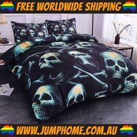 Skull & Bones Bedspread Set - Duvet Cover, Quilt *FREE WORLDWIDE SHIPPING*