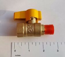 "1) 3/8"" FLARE X 1/2"" IPS BRASS GAS BALL VALVE 1/4 TURN - PROPANE, NATURAL GAS"