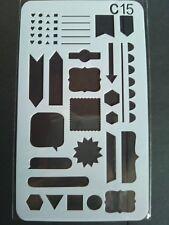 Stencil Shapes Dots Heart Line Cardmaking Scrapbooking Journal Planner Craft 15