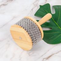 Cabasa Afuche Latin Percussion Hand Shaker Musical Instrument Wood 11.5cm Width
