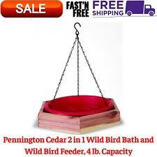 Cedar 2 in 1 Wild Bird Bath and Wild Bird Feeder, 4 lb. Capacity New