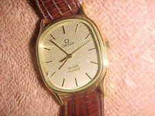 Estate - OMEGA DEVILLE - Quartz  -  HONEYCOMB DIAL - RUNS 100% - BEAUTIFUL!!