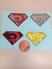 Superman Red Son Decals Die Cut Revell Aurora Mego