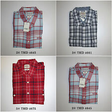 Lucky Brand,Men's Casual Shirts,Short Sleeve,Plaid Check,Super Soft .Classic Fit
