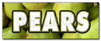 PEARS DECAL sticker fresh picked fruit stand farm produce farmers market