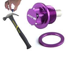 ADD W1 Magnetic Oil + Tranny Drain Plug Pkg w/ MT For Honda Acura purple