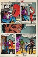 1982 Zeck Captain America 272 page 8 Marvel Comics color guide art:1980's/Falcon