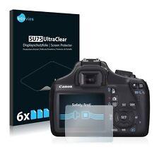 6x Protector Pantalla para Canon EOS 1100D Pelicula Protectora Transparente