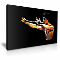 BRUCE LEE  PICTURE PRINT CANVAS WALL ART VARIOUS SIZES