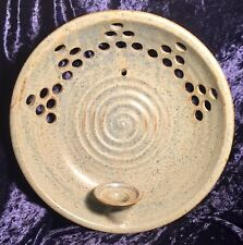 Nordic Studio Pottery Wall Candle Sconce, Huittinen Finland, Signed.