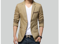 2017 Men Slim Fit Jacket Business Casual Mens Blazer Two Button Coats