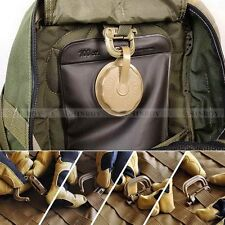 5Pcs Molle Tactical Camp Hiking Clip Carabiner Locking D-Ring Hook Safety Buckle
