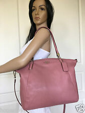 NEW COACH SEXY DUSTY PINK COLORED LEATHER HOBO SHOULDER CROSSBODY BAG PURSE