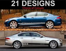 Jaguar xf side stripes decals stickers graphic side stripe both sides