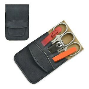 Mont Bleu 5-piece Manicure Set with Glass Nail File in Eco-Leather Case GNU BLUE