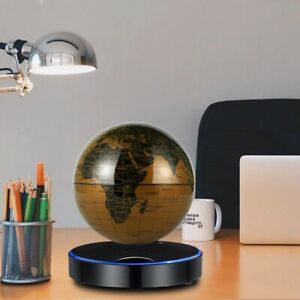 6 Inch Creative Magnetic LED Light Bas Levitation Floating Globe World Map