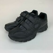 Skechers Mens After Burn Memory Fit - Final Cut Black Extra Wide Shoes Size 13