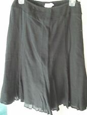 Woman's Black Skirt from Charter Club Elastic Waist Size 6P 100% Cotton
