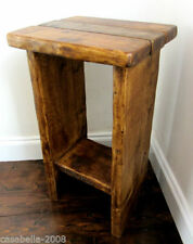 Handmade Solid Wood Console Tables with Shelves