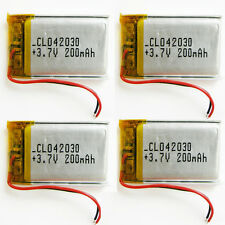 4 pcs 3.7V 200mAh Lipo Polymer Rechargeable Battery 402030 For Bluetooth GPS MP3