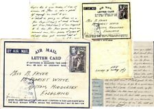 WW2 Ceylon 1943 AIR LETTER from RAF BASE Ceylon to UK with RAF CENSOR mark