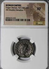 Trajan Decius 249-251 AD Silver Double Denarius Antioch NGC XF