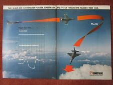 11/82 PUB SUNDSTRAND AEROSPACE IDG SYSTEM F-16 FLIGHT TEST DATA ORIGINAL AD