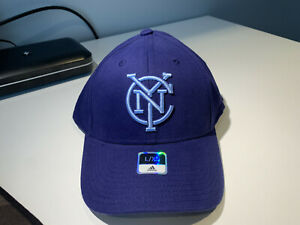 New York City FC MLS Men's Adidas Basic Structured Flex Cap, Navy, L/XL