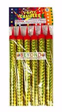 "6ct Birthday Wedding Bottle 6"" Large Party Gold Sparkling Candles Outdoor only"