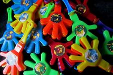 Ninjago -8 Mini Hand Clappers-Party Favors  Birthday Loot Bag Noisemakers