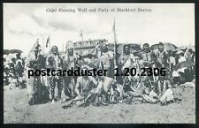 2306 - WESTERN CANADA 1907 Blackfoot Braves Indians. Chief RUNNING WOLF