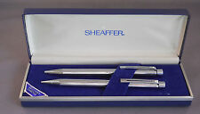 Sheaffer Vintage White Dot Targa Ball Pen+Pencil Set --Bright Chrome