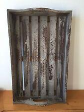 Tablett Antikgrau-Shabby Holz Vintage Landhaus Küchendeko, Deko, grau,  NEU (M)