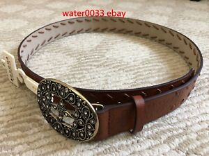 New Sonoma Women's Brown Faux Leather Belt Size Medium M with $30 tag From Kohls