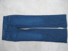 WOMENS EDDIE BAUER MODERN BOOTCUT STRETCH JEANS SIZE 8 TALL  32 x 34 INDIGO BLUE