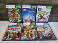 Kinect Xbox 360 Lot Of 6 Kinectimals Joyride Sports Wipeout Disneyland Adventure