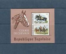 Togo bloc   course de chevaux     de 1974    num:  80 **