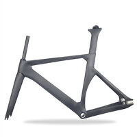 48cm Full carbon Track Bike Frame fork Seatpost Fixed gear UD matt fork 700C