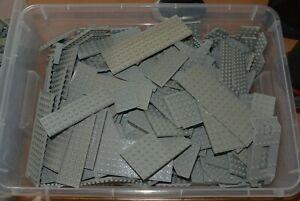 LEGO 0,65 Kilo - KG Platten Farbe altes hell grau ab 4 x 4 - Paket 3