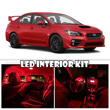 For 15-Up Subaru Impreza WRX/STI Interior Xenon LED SMD Light Kit Ultra RED