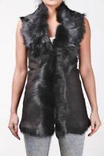 Abrigos y chaquetas de mujer chaleco de piel