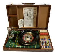 Vintage Royal Brand Early Roulette Travel Game In Wood Case -Complete & Works