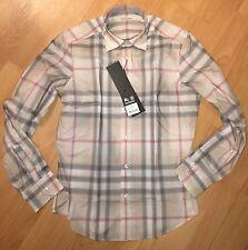 NWT Burberry Whitehead Plaid Regular Fit Button-Down Shirt-BEIGE-Size L