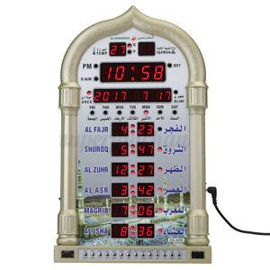 Azan Clock Gebetsuhr Muslim Wanduhr Moschee Wandkalender Islam Gebetszeiten DE
