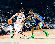 Ricky Rubio Minnesota Timberwolves Signed 8x10 photo LOM COA rr39