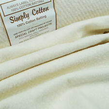 Simply 100% Cotton Wadding 220cm / batting quilting patchwork traditional quilt