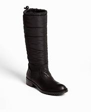 $675 Pedro Garcia Ocean Black Deer Leather Riding Boot Flat Puffer Bootie 40.5