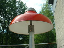 "1-20"" Revere RED Porcelain Gas Station Cluster Island Light Industrial  Barn Vtg"