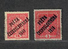 Czech Sc#B17+B19a Used, Cv. $952.50