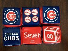 Chicago Cubs Baseball Mlb Baby Toddler Soft Stackable Blocks Rawlings Set of Six